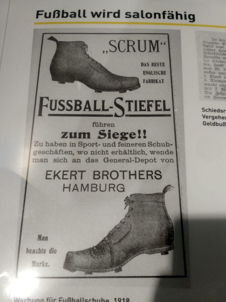 """Reklama butów piłkarskich """"scrum"""" z 1918"""